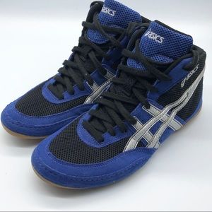Asics Shoes - ASICS Blue Black Wrestling Sneakers 8.5 M